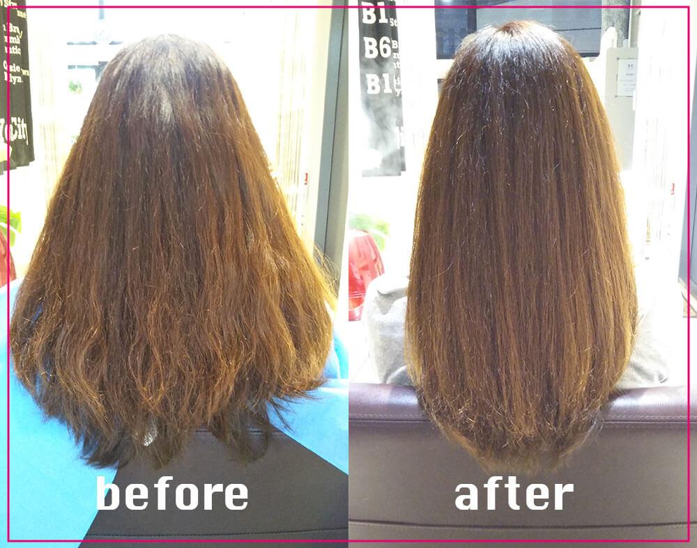 鶴間の美容院ハルワ ヘアスタイルその2:化粧水保湿電子TR、カラー