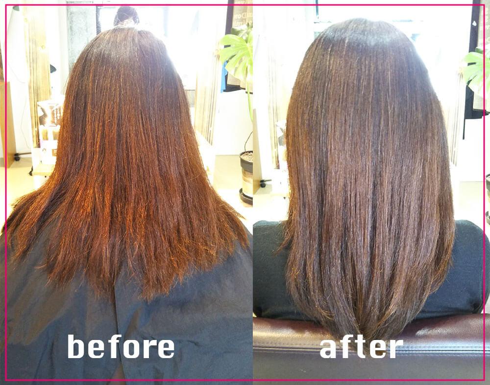 鶴間の美容院ハルワ ヘアスタイルその3:化粧水保湿電子TR、カラー