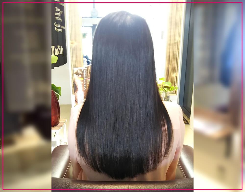 鶴間の美容院ハルワ ヘアスタイルその7:カット、化粧水保湿電子TR、縮毛矯正コース